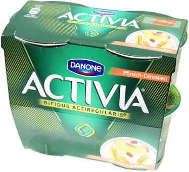 EAN:4009700035134 Activia Pfirsich-Cerealien 4x125g   bei Wellonga 2,05 €