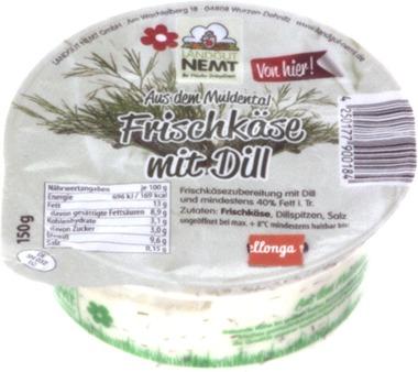 EAN:4250177900184 Frischkäse Dill 150g   bei Wellonga 1,79 €