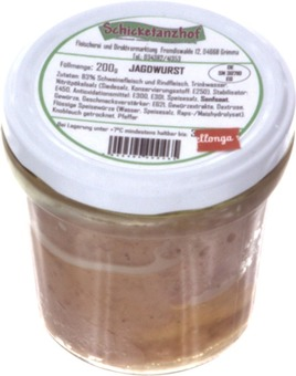 EAN:4949490000465 Jagdwurst Glas 200g   bei Wellonga 2,30 €