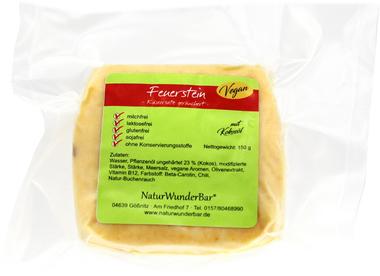 "EAN:4949490032183 Käse-Ersatz vegan ""Feuerstein"" 150g   bei Wellonga 4,50 €"
