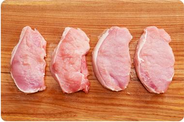 EAN:4949492301102 Schweineschnitzel portioniert 4 Stück 600g  bei Wellonga 4,30 €