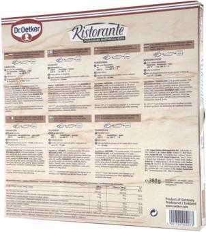 EAN:4001724004073 Pizza Salami Mozzarella 360g   bei Wellonga 2,69 €