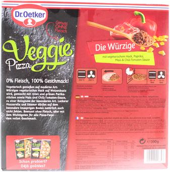 EAN:4001724018827 Veggie Pizza Die Würzige 390g   bei Wellonga 3,29 €