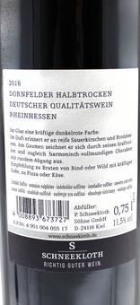 EAN:4008893673727 Dornfelder Halbtrocken 0,75l   bei Wellonga 4,15 €
