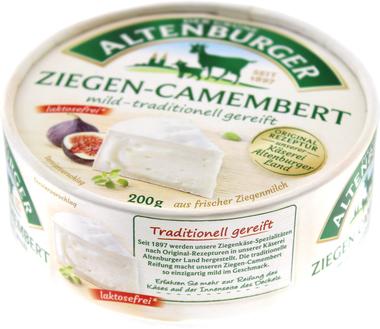 EAN:4042089001208 Ziegen-Camembert 45% 200g   bei Wellonga 3,65 €