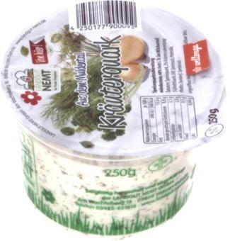 EAN:4250177900092 Kräuterquark 250g 40% Fett   bei Wellonga 1,55 €