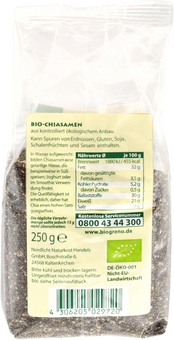 EAN:4306205029720 Bio Chiasamen 250g   bei Wellonga 4,29 €