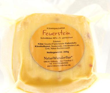 """EAN:4949490032176 Räucherkäse """"Feuerstein"""" 200g   bei Wellonga 4,50 €"""