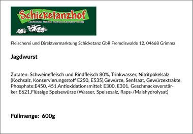 EAN:4949492300709 Jagdwurst Stück 600g   bei Wellonga 4,99 €