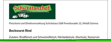 EAN:4949492301027 Bockwurst Rind 5 Stück 500g   bei Wellonga 4,99 €