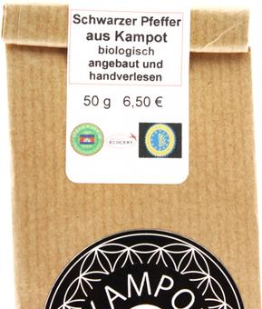 EAN:4949492302408 Kampot-Pfeffer schwarz 50g   bei Wellonga 6,50 €