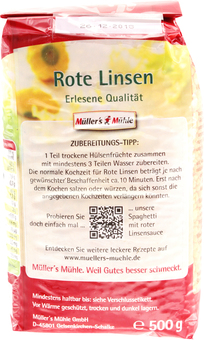EAN:4000286221126 Rote Linsen 500G   bei Wellonga 1,99 €