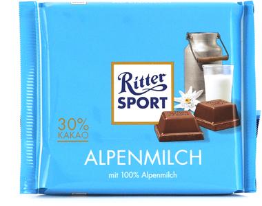 EAN:4000417018007 Alpen-Vollmilchschokolade 100g   bei Wellonga 0,99 €