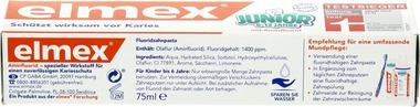 EAN:4007965146008 Zahncreme Junior mit Aminfluorid 75ml   bei Wellonga 2,49 €