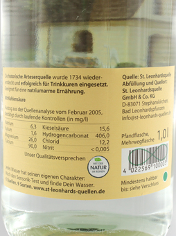 EAN:4022569100003 St. Leonhard Medium 1L   bei Wellonga 1,29 €