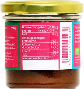EAN:4026259000239 Fruchtaufstrich Rhabarber 150g   bei Wellonga 3,00 €