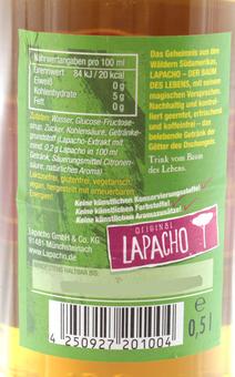EAN:4250927201004 Lapacho Erfrischungsgetränk 0,5l   bei Wellonga 0,80 €