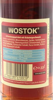 EAN:4260189210010 Wostok Tannenwald 0,33l   bei Wellonga 1,25 €