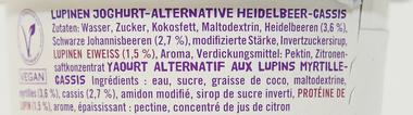 EAN:4260248511249 Lupinen Joghurt Heidelbeere Cassis 500g   bei Wellonga 1,95 €