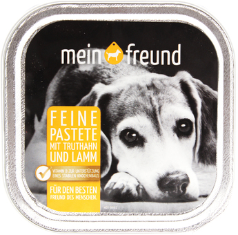 EAN:4306188349907 Hundefutter Truthahn Lamm 150g   bei Wellonga 0,49 €