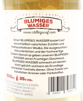 EAN:4949492302373 Stiller Josef Blumiges Wasser 35% Holunder 0,5l   bei Wellonga 15,90 €
