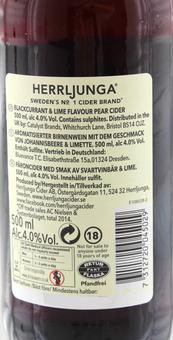 EAN:7312720045029 Herrljunga Cider 0,5L Johannisbeere/Limette 0,5l 4% vol.   bei Wellonga 2,99 €