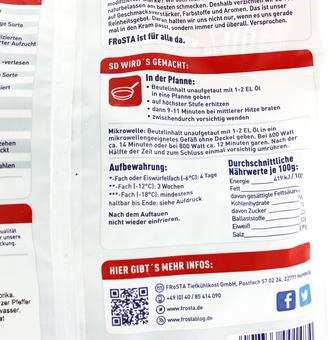 EAN:4008366001484 Bratkartoffel Hähnchen Pfanne 500g   bei Wellonga 3,59 €