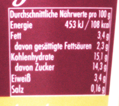 EAN:4025839031830 Unser Cremiger 150g 5% Vanille   bei Wellonga 0,59 €