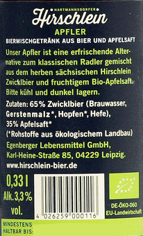 EAN:4026259000116 Apfler Bier Mix 0,33l   bei Wellonga 1,19 €
