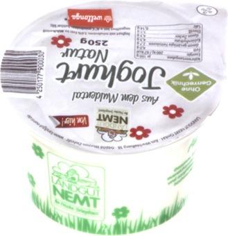 EAN:4250177900030 Joghurt Natur 250g   bei Wellonga 0,80 €