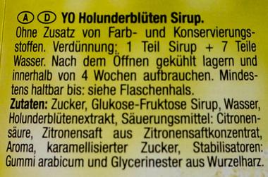 EAN:9001400004835 Sirup Holunderblüten 0,7l   bei Wellonga 2,99 €